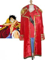 One Piece Cosplay Monkey D Luffy's Red Cosplay Costume