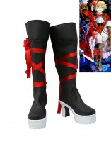 Pandora Hearts Cosplay Oz Ribbon Detailed High Heel Boots