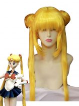 Sailor Moon Tsukino Usagi Yellow Cosplay Wig