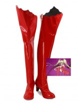 Shugo Chara Tsukiyomi Utau Red Female Cosplay Shoes