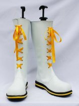 Vocaloid Kagamine Rin White PU Cosplay Boots