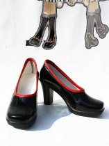 Vocaloid Red & Black PU Cosplay Shoes