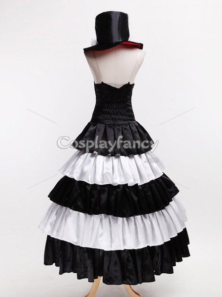 White & Black One Piece Perona Two Years Later Cosplay Costume/Dress