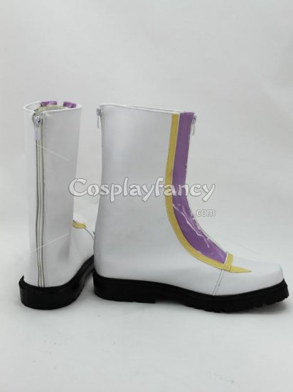 Yu-Gi-Oh! Cosplay Kite Tenjo White Cosplay Boots - Click Image to Close