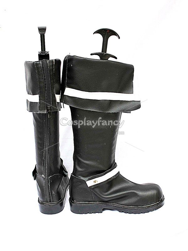 D Gray-Man Allen Walker Black Cosplay Boots
