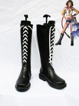 Final Fantasy X Cosplay Shoes Yuna's Black Lace Up Boots