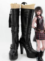 Final Fantasy XIV Amicitia Iris Black Cosplay Boots
