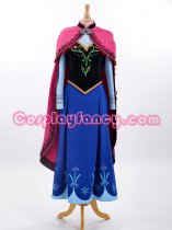 Frozen Princess Anna of Arendelle Cosplay Costume