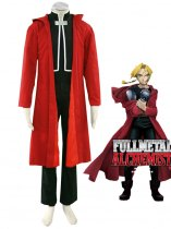 Fullmetal Alchemist Cosplay Edward Elric First Red Cosplay Costume