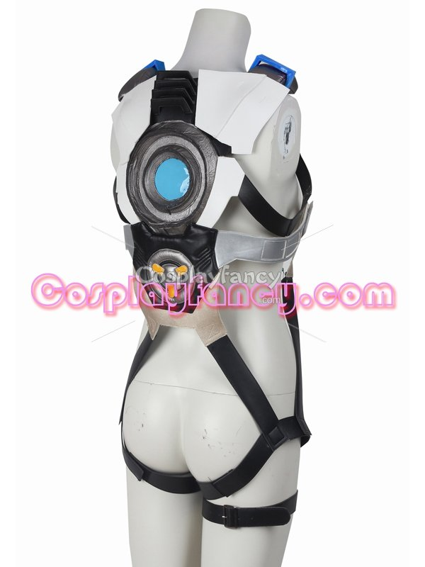 Game Overwatch Blue Tracer Lena Oxton Cosplay Costume