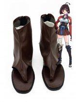 Kabaneri of the Iron Fortress Mumei Brown & Silver Cosplay Boots