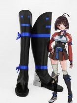 Kabaneri of the Iron Fortress Mumei Fighting Uniform Cosplay Boots