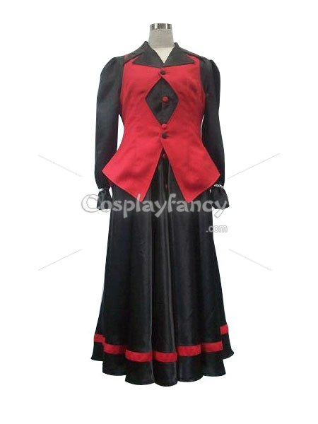 King of Fighter 96 Vice Red & Black Cosplay Costume