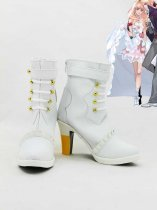 Macross Frontier Sheryl Nome Wedding White Cosplay Boots