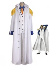One Piece Cosplay Kuzan Navy Admiral Aokiji Uniform Cosplay Costume