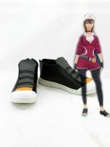 Pocket Monster Pokemon Go Female Trainer Black Cosplay Shoes