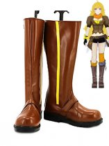 RWBY Yellow Trailer Yang Xiao Long Brown Cosplay Boots