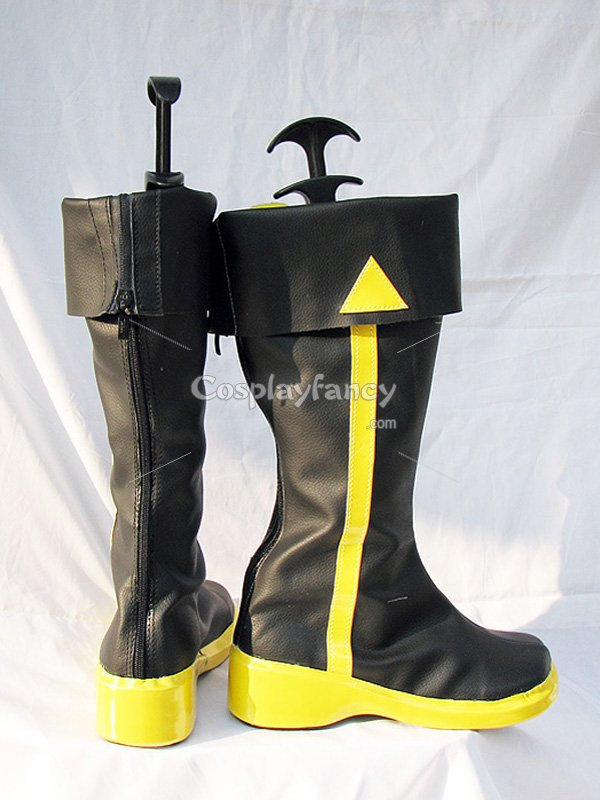 Vocaloid Kaito Black & Yellow Cosplay Boots
