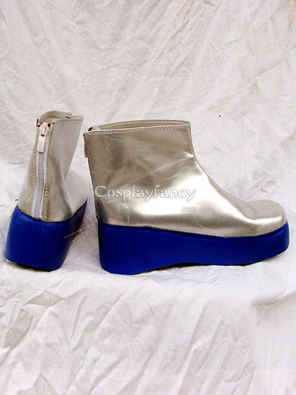 Vocaloid Miku Snow Cosplay Silver Short Boots