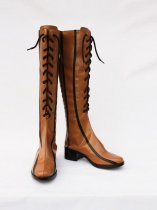 Vocaloid2 Rin Coffee Artifical Leather Cosplay Boots