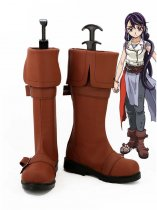 Yu-Gi-Oh! Arc-V Cosplay Lulu Obsidian Brown Anime Cosplay Boots