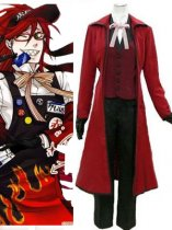Black Butler Cosplay Grell Sutcliffe Cosplay Cotume