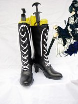 Black Butler Cosplay Ciel Female Black Lace Up Cosplay Boots