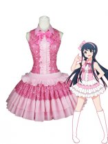 Dangan Ronpa Sayaka Maizono Pink Cosplay Costume/Dress