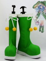 Date A Live Cosplay Yoshino Green Cosplay Boots