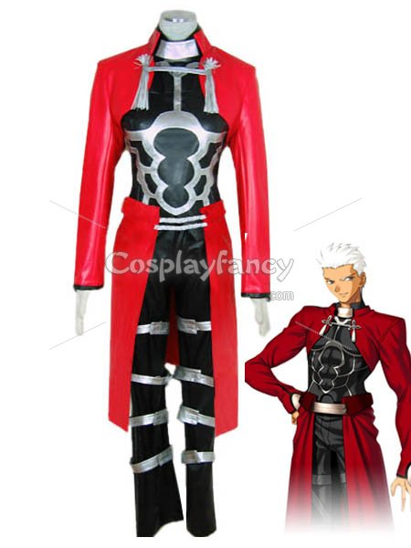Fate/stay Night Archer Artificial Leather Cosplay Costume