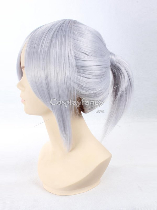Final Fantasy Type-0 Sice Silver Cosplay Wig