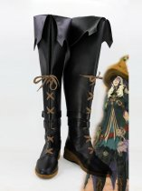 Final Fantasy XIV Black Cosplay Boots