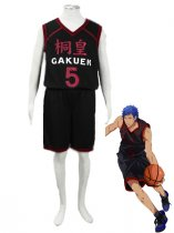 Kuroko no Basketball Daiki Aomine Too Academy School basketball team Uniform Cosplay Costume Black Number 6