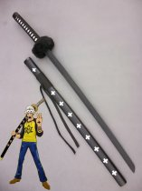 One Piece Cosplay Trafalgar Law's Black Wood Cosplay Sword