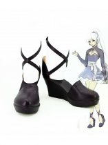 RWBY 4 White Trailer Weiss Schnee Black Cosplay Shoes