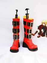 Red & Black Togainu No Chi Rin Cosplay Boots