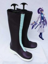 Vocaloid Gakupo Blue & Black PU Cosplay Boots