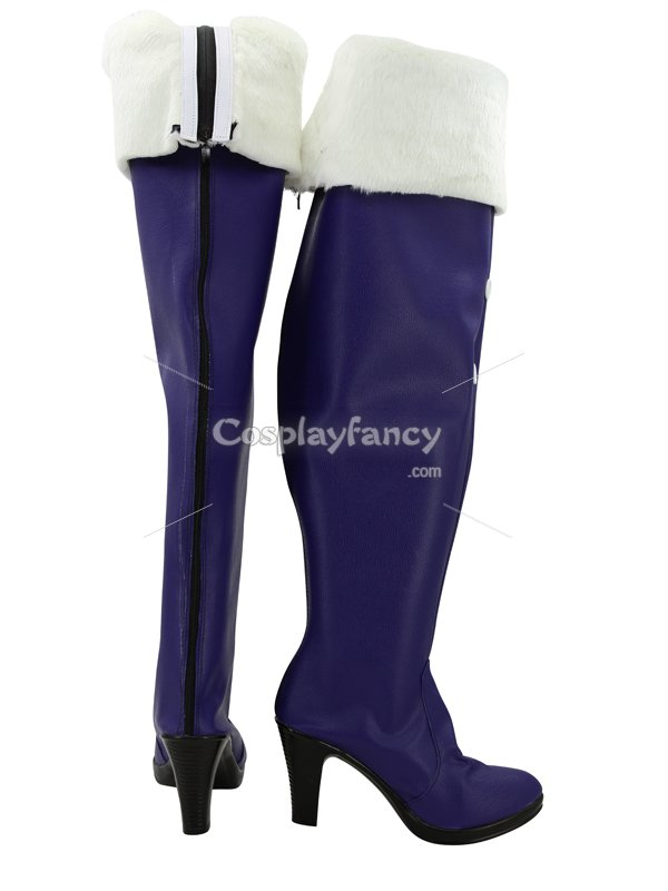 Vocaloid Miku Snow Blue & White Female Hight Heel Cosplay Boots