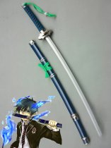 Ao no Exorcist Cosplay Rin Okumura Wood Cosplay Sword