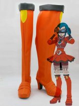 Pokemon Cosplay Bryon Orange Hight Heel Cosplay Boots