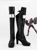 League of Legends The Piltover Enforcer Vi Black Hight Heel Cosplay Boots