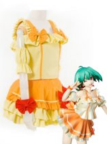 Macross Frontier Ranka Lee Yellow & Orange Cosplay Costume
