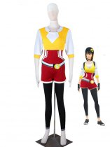 Pocket Monster Pokmon GO Team Yellow Female Trainer Uniform Anime Cosplay Costume