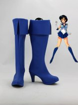 Sailor Moon Cosplay Sailor Mercury Blue Cosplay Boots