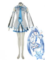 Vocaloid Cosplay Snow Miku Cosplay Costume