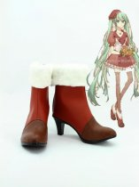 Vocaloid Hatsune Miku Female Hight Heel Cosplay Ankle Boots