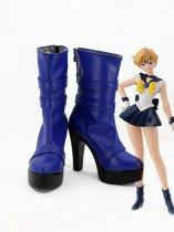 Tenoh Haruka Cosplay Shoes Sailor Moon Sailor Uranus Blue Cosplay Boots