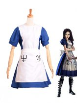 Alice: Madness Returns Alice White and Blue Maid Cosplay Costume