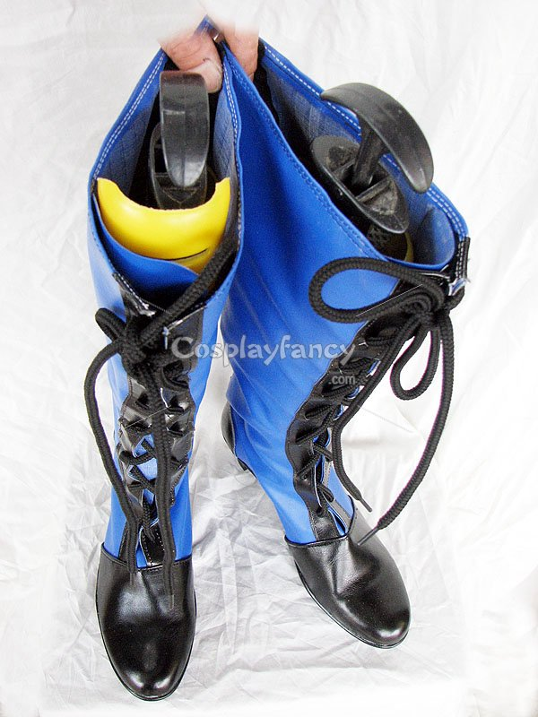 Black Butler Ciel Black and Blue Cosplay Lace Up Boots