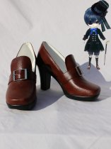 Black Butler Cosplay Ciel's High Heel Buckle Cosplay Boots